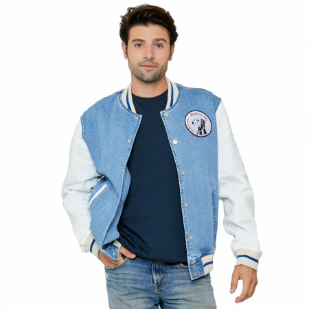 Budweiser Anheuser-Busch Varsity Trucker Jacket with Dalmatian Patch