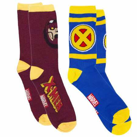 X-Men 90's Series Symbol and Sentinel Crew Socks 2-Pair Pack