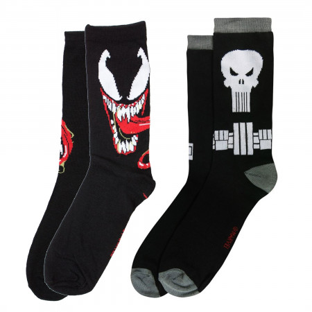 Marvel Antihero Crew Socks 2-Pair Pack
