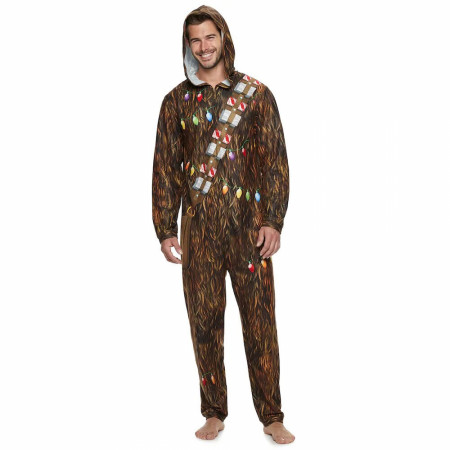 Star Wars Holiday Chewbacca Micro Fleece Union Suit