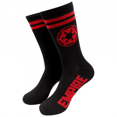 Star Wars Jedi and Empire Symbols Crew Socks 2-Pair Pack