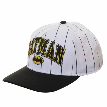 Batman Pinstripe Pre-Curved Adjustable Snapback Hat
