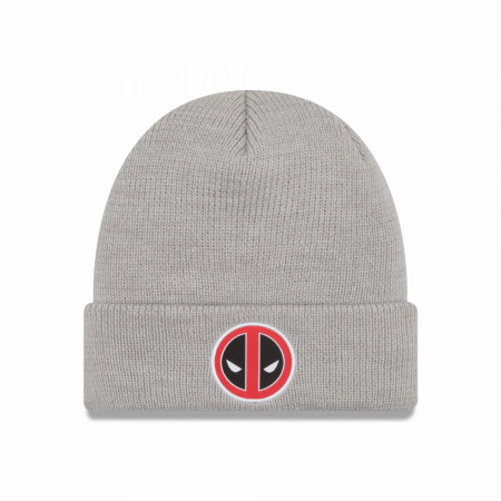 Deadpool Logo Grey Cuffed Beanie