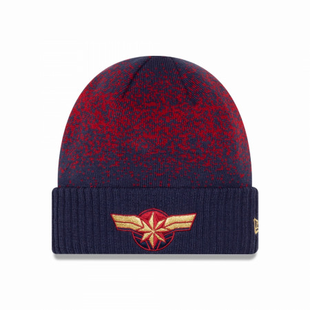 Captain Marvel Speckled Knit Cuff New Era Beanie