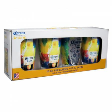 Corona Extra Día de Muertos Pint Glass Set of 4