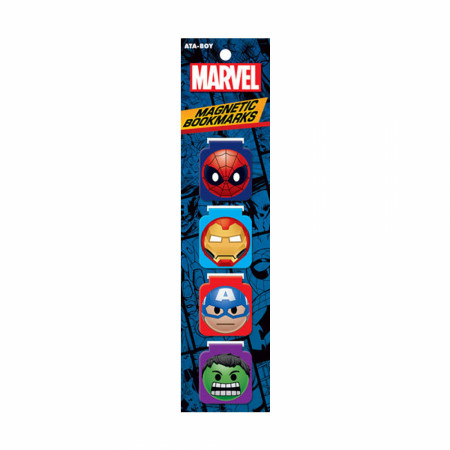 Avengers 4-Piece Magnetic Bookmarks