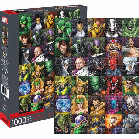 Marvel Villains Collage 1000 Piece Jigsaw Puzzle