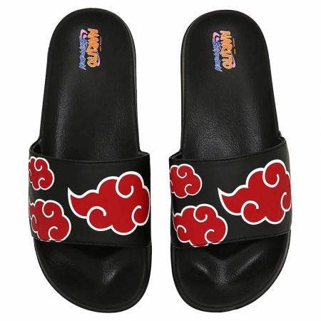 Naruto Akatsuki Cloud Logos Slides Sandals