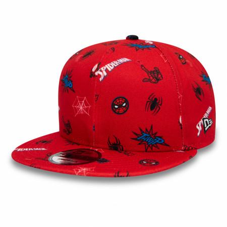Spider-Man Peter Parker Scattered New Era 9Fifty Adjustable Hat