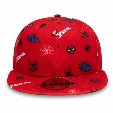 Spider-Man Peter Parker Scattered New Era 9Fifty Adjustable Hat