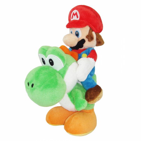 "Super Mario Bros. Riding Yoshi 8"" Plush Toy"