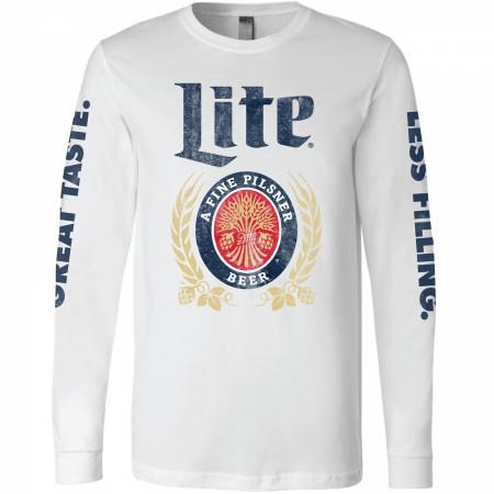 Miller Lite Great Taste Less Filling Long Sleeve Shirt