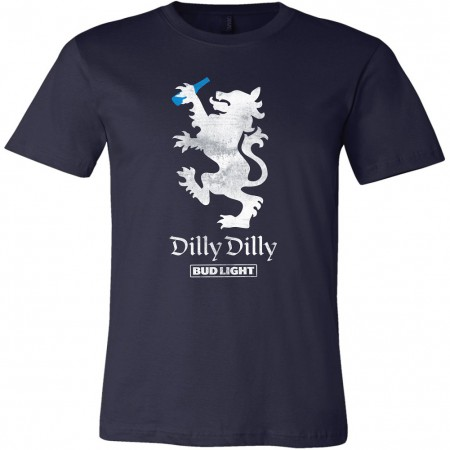 Bud Light Beer Dilly Dilly Lion Navy Blue T-Shirt