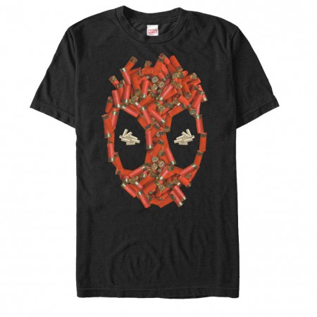 Deadpool Shell Cases Black Mens T-Shirt