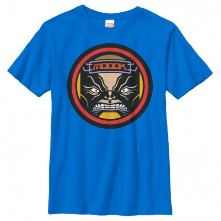 Marvel Teams Modok Emblem Blue Youth T-Shirt