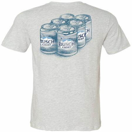 Busch Light Six Pack Front and Back Print T-Shirt