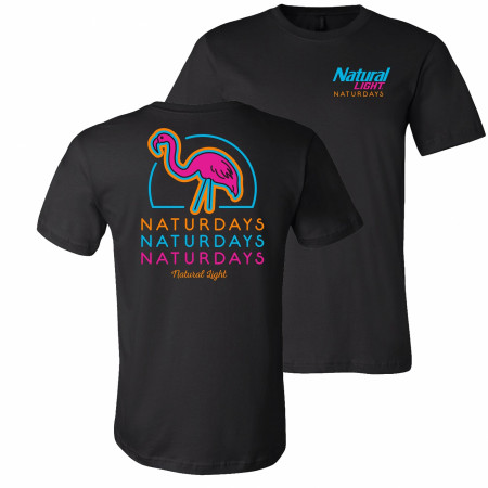 Natural Light Naturdays Neon Flamingo T-Shirt