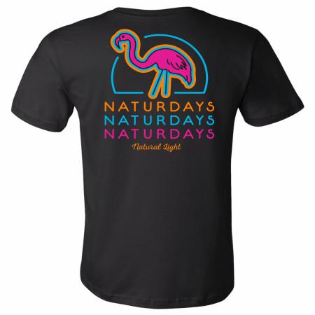 Natural Light Naturdays Neon Flamingo T-Shirt