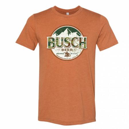 Busch Beer Camo Logo Hunter Orange T-Shirt