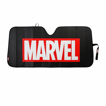 Marvel Brand Text Accordion Car Sunshade