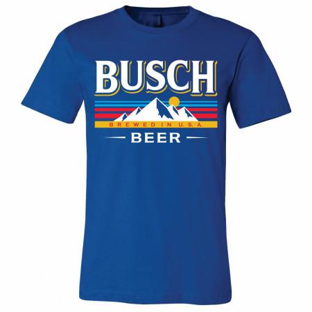 Busch Brewed In The USA Mountain Logo T-Shirt