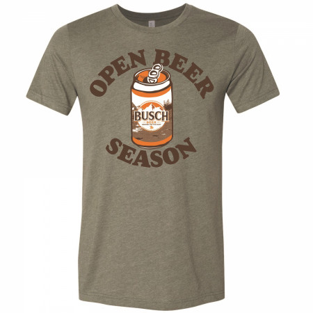 Busch Beer Hunting Open Beer Season Can Military Green T-Shirt