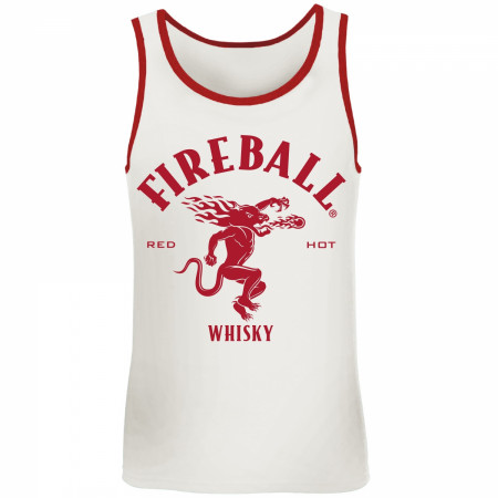Fireball Whisky Red Trim Tank Top