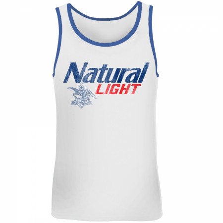 Natural Light Blue Trim Tank Top