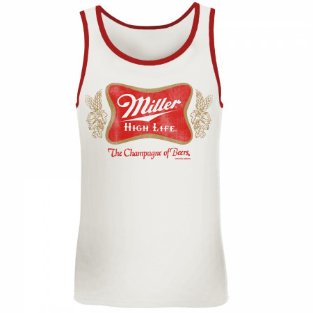 Miller High Life Red Trim Tank Top