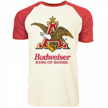 Budweiser Eagle Short Sleeve Raglan T-Shirt