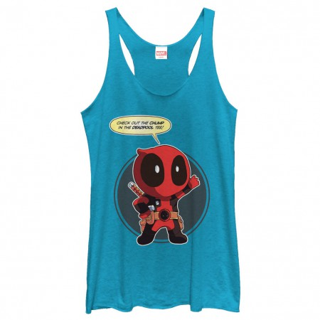 Deadpool Chump Blue Juniors Tank Top