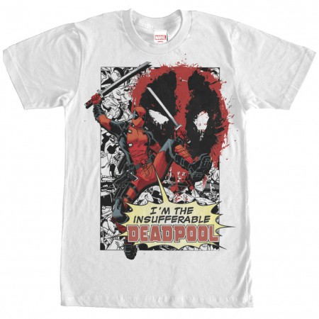 Deadpool Insufferable White T-Shirt