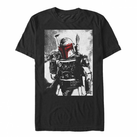Star Wars Boba Fett Noir and Red Color Pop T-Shirt