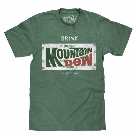 Mountain Dew Faded Retro Green T-Shirt