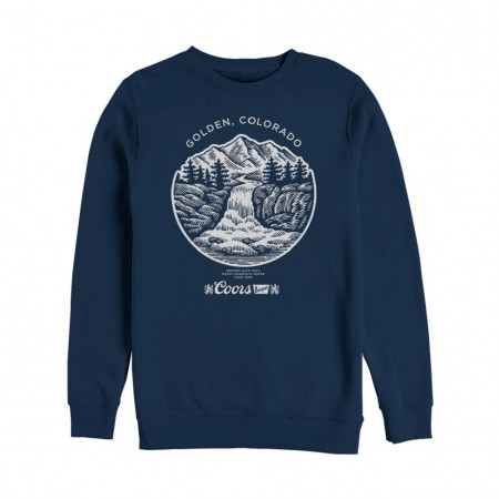 Coors Banquet Waterfall Golden Colorado Crewneck Sweatshirt