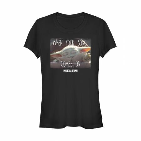 The Mandalorian Favorite Song The Child Juniors Black T-Shirt