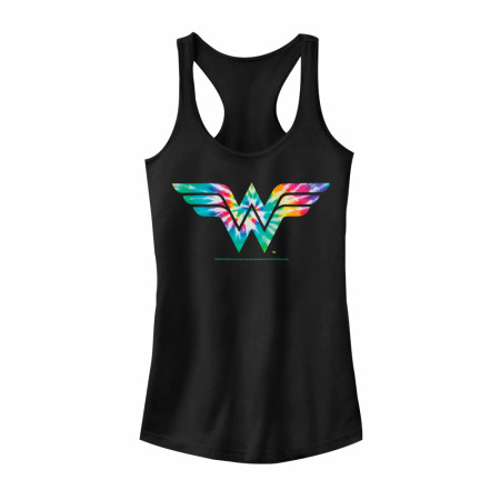 Wonder Woman Tie Dye Symbol Women's Tank Top