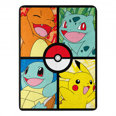 Pokemon Kanto Regionals Throw Blanket