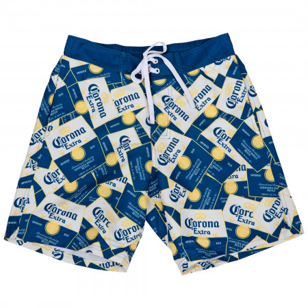 Corona Extra Scattered Labels Board Shorts