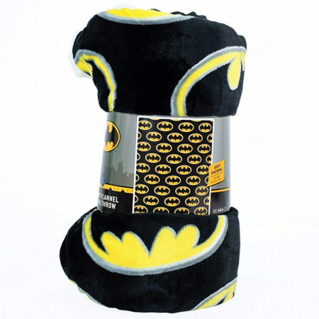 DC Comics Batman Symbol All Over Thick Micro Sherpa Throw Blanket