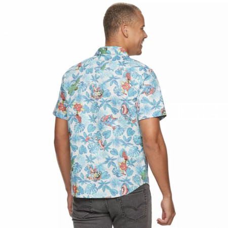 Marvel Avengers Button Up Hawaiian Shirt