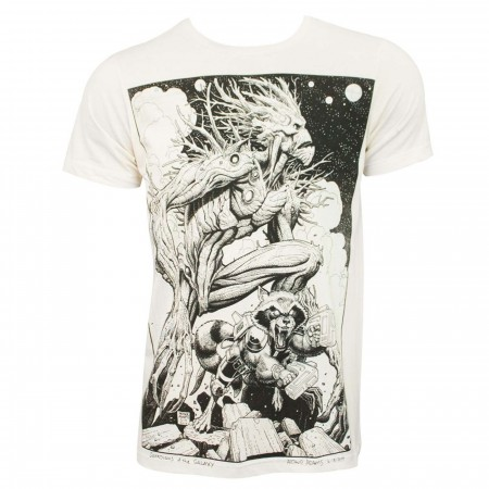 Guardians of the Galaxy Groot & Rocket Sketch 30single T-Shirt