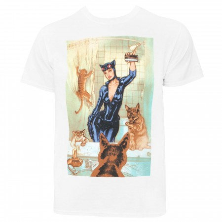 Catwoman Selfie Comic Men's T-Shirt