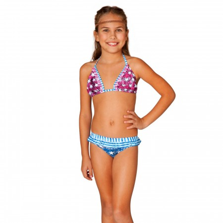 Wonder Woman Patriot Ruffle Bikini Swimsuit