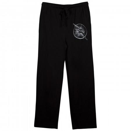 Zoom Blue Lightning Logo Black Unisex Sleep Pants