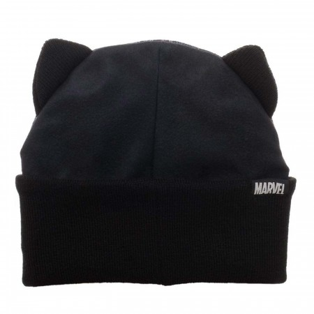 Black Panther Big Face Beanie