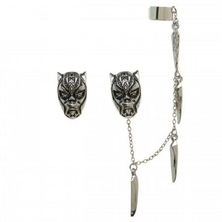 Black Panther Ear Ceremonial Mask Ear Cuff