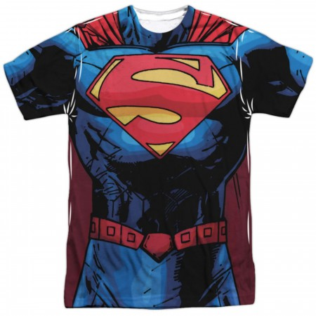 Superman New 52 Costume Sublimation T-Shirt