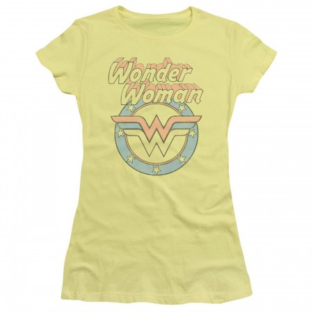 Wonder Woman Vintage Logo Women's Yellow T-Shirt
