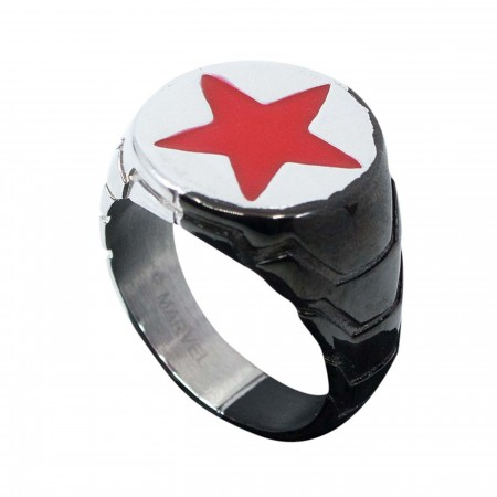 Winter Soldier Metal Symbol Ring